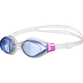 arena Fluid Lunettes de protection Femme, blue-clear-fuchsia